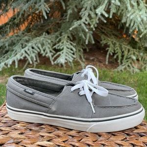 New Gray Vans Lace up Slip on Boat and Skater Shoe